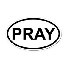 PRAY090612 Oval Car Magnet
