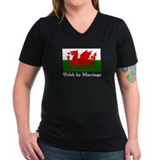 Welsh by Marriage Women's Black V-Neck