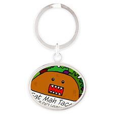 Eat Mah Taco Oval Keychain