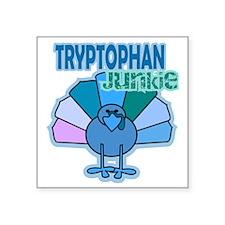 "Thanksgiving Turkey Tryptop Square Sticker 3"" x 3"""