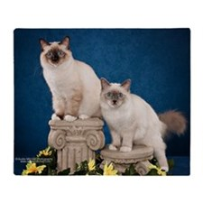 Birman Kitten Calendar Throw Blanket