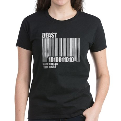 Bar Code of the Beast Women's Dark T-Shirt