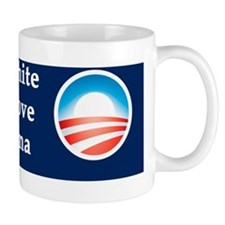 Old White Lady and I Love Barack Obama Mug
