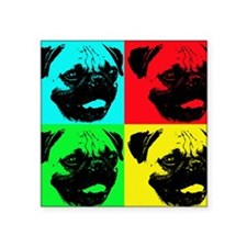 "Pop Pug Square Sticker 3"" x 3"""
