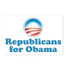 Republicans for Obama Postcards (Package of 8)