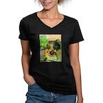 Chicks For Sale Women's V-Neck Dark T-Shirt