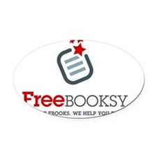 Freebooksy Oval Car Magnet