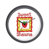 Sweet Shawna Wall Clock
