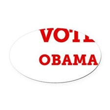 Vote Invisible Obama 2012 Oval Car Magnet
