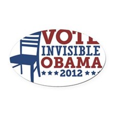Vote Invisible Obama 2012 Chair Oval Car Magnet