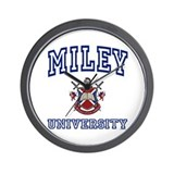 MILEY University Wall Clock