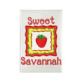 Sweet Savannah Rectangle Magnet