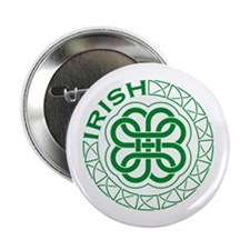 Irish Knot Work Shamrock Button