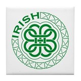 Irish Knot Work Shamrock Tile Coaster