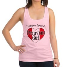 Everyone Loves Peruvian Girl Racerback Tank Top