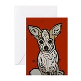 Red Hot Chihuahua Greeting Cards: Blank (Pk of 10)
