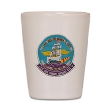 uss bon homme richard cva patch transpa Shot Glass