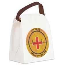 NURSE PRACTITIONER ROUND GOLD CLO Canvas Lunch Bag