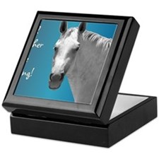 Id Rather Be Riding Horse Keepsake Box