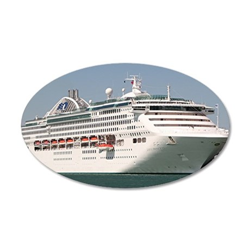 Dawn Princess Cruise Ship 20x12 Oval Wall Decal