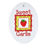 Sweet Carlie Oval Ornament