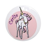 Carlie Unicorn Ornament (Round)