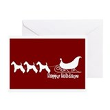 "Wire Fox ""Sleigh"" Greeting Cards (Pk of 10)"