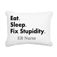 Eat sleep ER nurse Rectangular Canvas Pillow