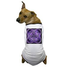 Purple Celtic Tapestry Dog T-Shirt