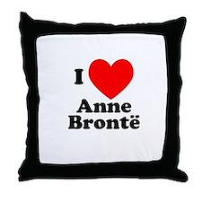 I Love Anne Bronte Throw Pillow