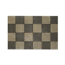 Grunge Tiles Rectangle Magnet