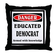 Educated Democrat Throw Pillow