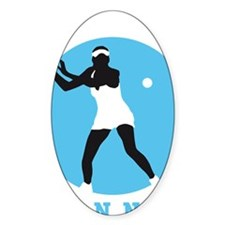 female tennis player Decal