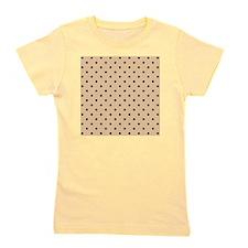 Beige and black polka dot. Girl's Tee