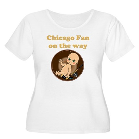 Chicago Fan Women's Plus Size Dark V-Neck T-Shirt