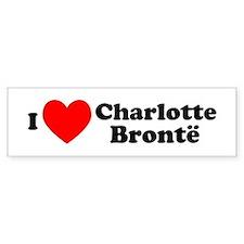 I Love Charlotte Bronte Bumper Bumper Sticker