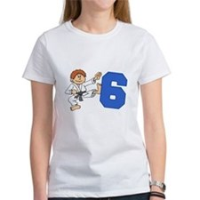 Martial Arts 6th Birthday Tee