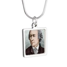 Leonhard Euler, Swiss math Silver Square Necklace