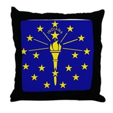 Flag of Indiana Throw Pillow