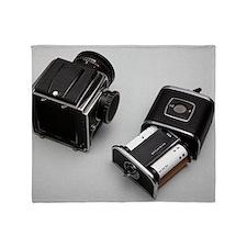 Medium format film camera Throw Blanket