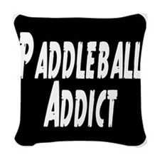 Paddleball Addict Woven Throw Pillow