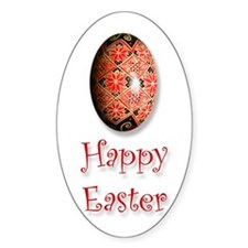 'Happy Easter' Oval Decal