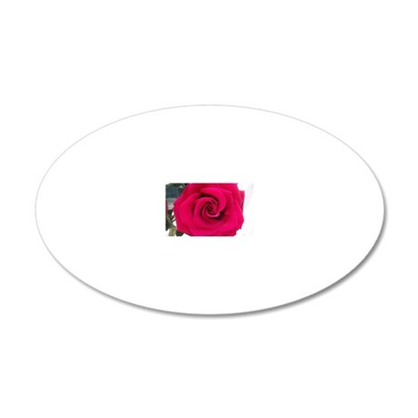 single rose 20x12 Oval Wall Decal