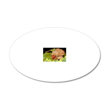 Honey bee hatching, SEM 20x12 Oval Wall Decal