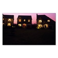 Houses at dusk Decal