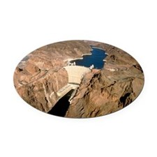 Hoover hydroelectric dam, Colorado Oval Car Magnet