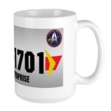 NCC-1701 License Plate Ceramic Mugs