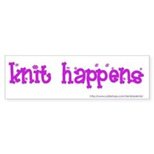 Knit Happens Bumper Bumper Sticker