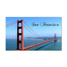 SF_10X8_GoldenGateBridge Rectangle Car Magnet