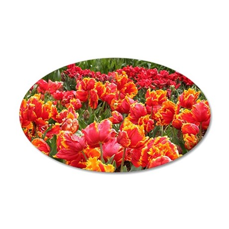 Tulips 2 35x21 Oval Wall Decal